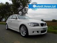 2011/61 BMW 1 SERIES 2.0 120D M SPORT 5DR ALPINE WHITE - MUST BE SEEN!