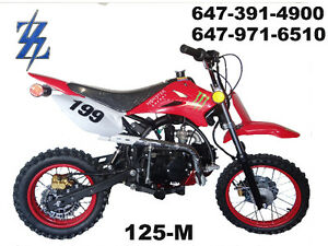 125CC 4 SPEED MANUAL DIRTBIKES.!! NEW IN BOX!! MONSTER ENERGY