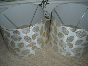 2 GOLD LEAF LAMP SHADES (only)