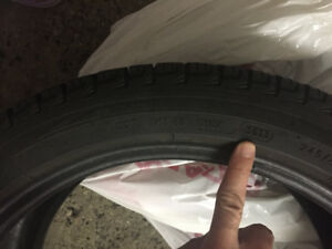 4 Pneus hiver/ winter tires Michelin X-Ice 245 40R18