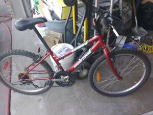 Supercycle 1800 Youth Mountain Bike, Red, 24-inch Tires