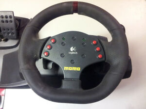 Logitech Momo Steering Wheel and Pedals for Computer