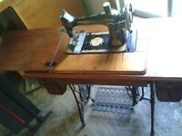Two Very Nice Antique Sewing Machines!!!