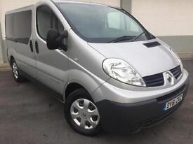 2012 61 Renault Trafic 2.0dci **Sat Nav**Crew Van**9 Seater**F.S.H**