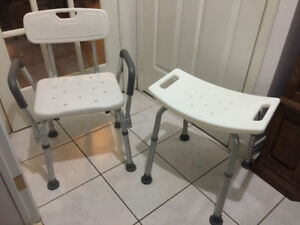 Shower chairs for sale - Like New Condition - from $20