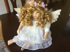 Angel doll with wings on back