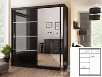 MULTI COLOURS BRAND NEW STYLISH BEDROOM SLIDING CHICAGO WARDROBE- FAST DELIVERY