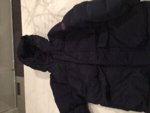 gap winter jacket navy size 8