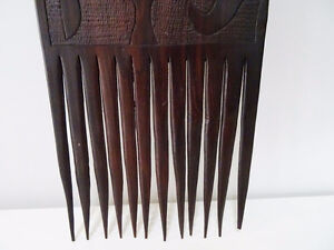 TRIBAL carved ebony COMB STYLE WALL HANGING designer piece Kitchener / Waterloo Kitchener Area image 5