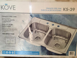 NEW Double-Bowl Stainless Steel Sink