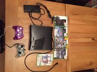 Xbox 360 console and 5 games ( as shown)
