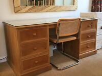 Heal's waxed pine desk