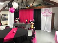 STARTING @ ONLY £155 HIGH QUALITY STARLIGHT BACKDROP/ DRAPING/ DRAPE/ FLOWER WALL HIRE