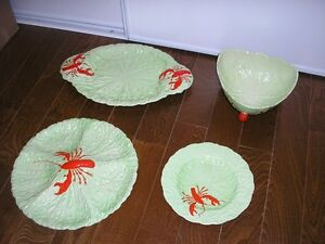 CHOICE OF CARLTON WARE LOBSTER PIECES