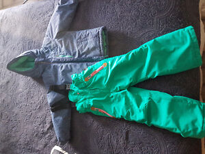 Girls winter coat and snow pants size 5/6