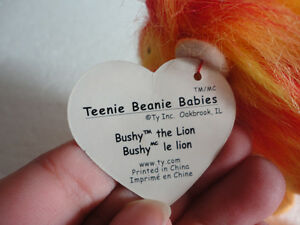 Set of 2 TY Bushy the Lion plush toy collectible Beanie baby NEW London Ontario image 3