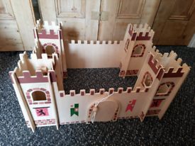 Wooden toy castle / fort