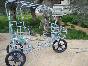 Adult tricycle, pedal, electric or gasoline powered