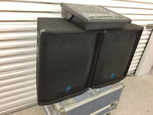 Yorkville PA system - Ap812 powered mixer and 401 speakers