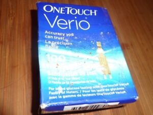 one-touch verio diabetic test strips sealed box expire 12/2018
