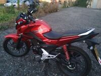 Honda CBF 125 New Shape 2015 year ,800miles glr cb125f