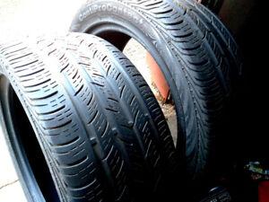 2 pneus d'été CONTINENTAL  235/45R17