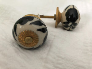 Set of 8 knobs (hardware) for cabinetry or furniture