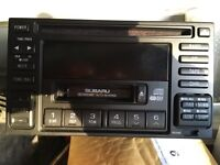 Subaru Impreza Wrx TURBO genuine kenwood head unit tape cd like new