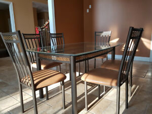 Glass Dining Table Set