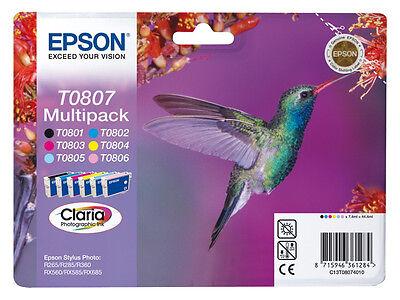 EPSON Nr. T0807 DRUCKERPATRONEN RX 585 RX585 RX 685 685 online kaufen