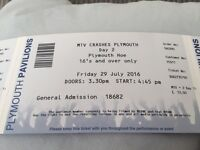 MTV crashes Plymouth Day 2 tickets
