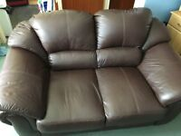 As new 2 seater leather sofa