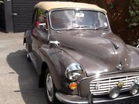 Morris minor genuine convertible 1969
