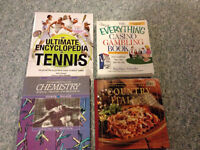 Books-Encyclopedia's, Cooking, sports, etc