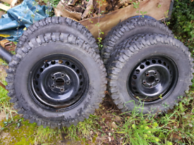 Vw T5 off road steel wheels and tyres