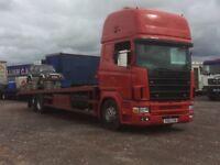Scania static Caravan transporter
