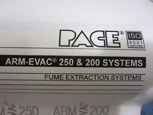 PACE Fume Extractor Arm- Evac 200 & Silencer Cart filter Kitchener / Waterloo Kitchener Area image 7