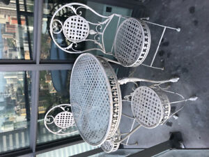Wrought Iron Patio set table and chairs