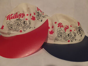 KELLOGGS BASEBALL CAPS SET OF TWO London Ontario image 1