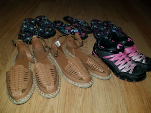 Size 1-2 shoes and sandals