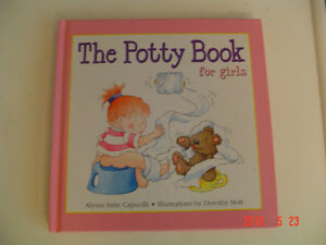 SET OF GIRL'S POTTY TRAINING AIDS - POTTY BOOK & DISNEY DVD