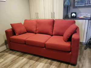SOFA COUCH (PULL OUT) AND CHAIR