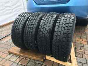 4*195/70R14 - Winter Tires + Rims with GOOD CONDITION! West Island Greater Montréal image 1