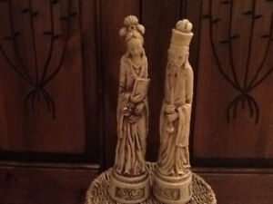 Oriental styled statues