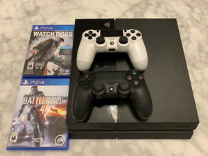 Likely new PS4 with 3 games and 2 controllers for sale