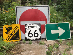 Vintage signs from Ontario roads.