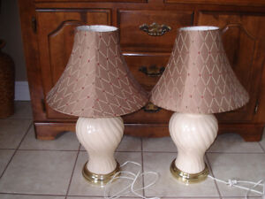 Set of Large Lamps