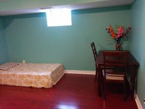 Basement large furnished room rent $550. (kennedy and Lawrence)