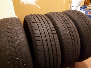 FOUR USED 185/60R15 WINTER TIRES