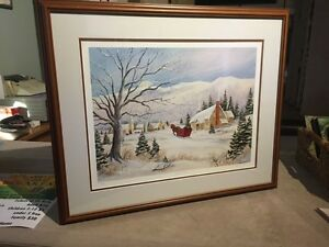 """Jingle Bells"" Mary Farkas framed print"